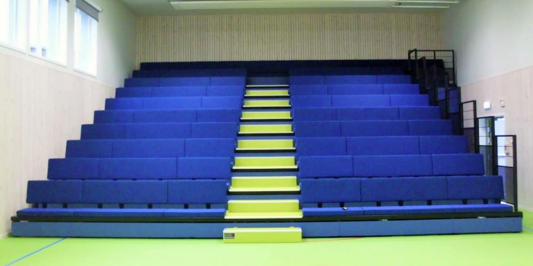 Bleacher Seats Maximise The Capacity Of Sports Halls