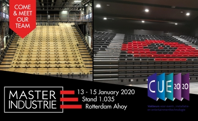 MasterIndustrie will participate at CUE Exhibition for events, installation and entertainment technology in Rotterdam.